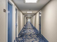 Rockport Inn & Suites Renovated Nautical Themed Hallways