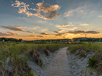 cape ann beach dunes sunset